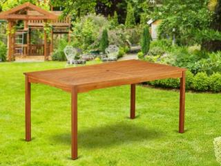 BCMTRNA Rectangular Terrace Acacia wood Dining Table   Natural Oil Finish