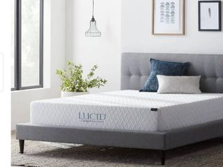 lucid Comfort Collection 10 Inch Full Xl Size Gel Memory Foam Mattress