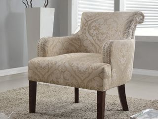 Best Master Furniture 588 Taupe Khaki Accent Chair NO lEGS   Retail 273 49