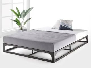 Porch   Den McCamant King size 9 inch Metal Platform Bed Frame with Hinged Corners   Retail 218 49