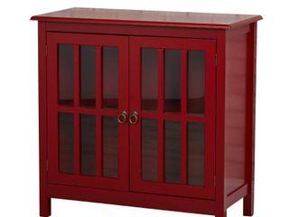 Simple living Portland Glass Door Cabinet   Retail 172 49