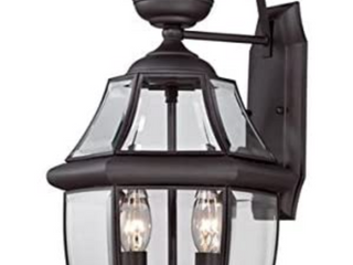 Portfolio Brayden 20 25 in Matte Black Outdoor Wall lantern Read Description