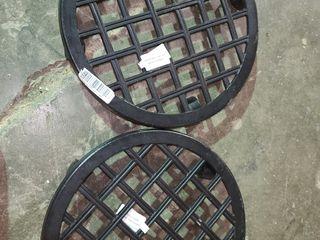 lot Of 2 Plant Caddies 12  17  With Wheels Black Tan Garden Decor Allen   Roth