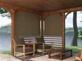 Coolaroo Cordless Sun light Filtering Shade Outdoor Roll Up Blind Porch 48x72