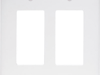 Pass   Seymour TP262WCC30 2 Gang 2 Decorator Opening Nylon Wall Plate  White 116 pieces