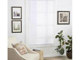 48x64 Cordless 1  Privacy Shade Vinyl Mini Blind White 0889876