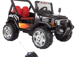 Ride On Toy Vehicle 12v Battery Powered Truck With lights Sounds Mp3 Amp Remote   inspected new in packaging