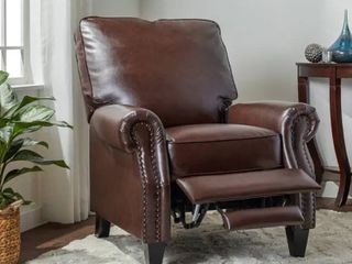 Abbyson Carla Bonded leather Pushback Recliner  Retail 352 49