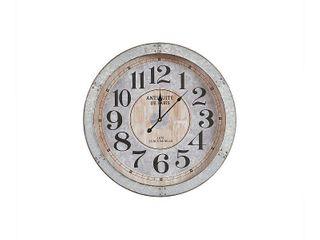 Madison Park Austin Antique Silver Wall Clock   Retail 112 49