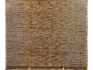 Radiance 5  x 6  Cord Free Peeled and Polished Reed Roll Up Outdoor Sun Shade  Cocoa  inspected