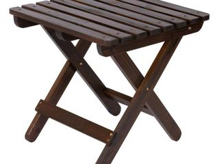 Adirondack Folding Table   Brown   inspected