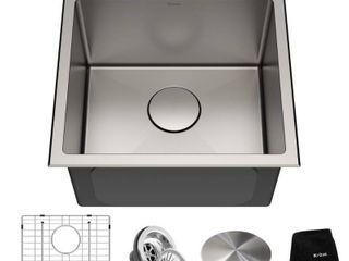 KRAUS Standard PRO Stainless Steel 18 in Topmount Drop In Kitchen Sink  Retail 249 95