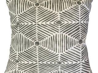 Iakovos Geometric Down Filled Throw Pillow in Grey set of 2