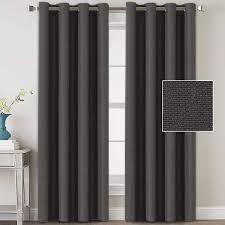 h versailtex curtain panels dark grey