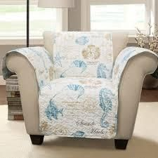 Harbor life Furniture Protector Blue Taupe Single Arm Chair 2 pkg