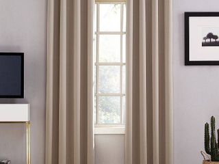 63 x52  Oslo Theater Grade Extreme Blackout Grommet Top Curtain Panels Beige   Sun Zero
