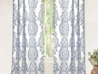 Driftaway Samantha Thermal Room Darkening Grommet Unlined Window Curtains  Set Of Two Panels  Each 52aX84a  Blue
