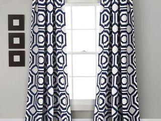 lush Decor Octagon Blocks Room Darkening Window Curtain Panel Pair   52 W x 84 l