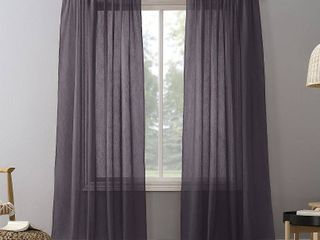 No  918 Erica Sheer Crushed Voile Curtain Panels