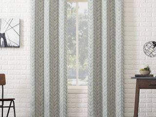 84 x40  Kenwood Chevron Blackout Grommet Top Curtain Panels Beige   Sun Zero