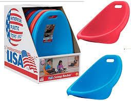 kids scoop rocker chairs 4 pc red and blue