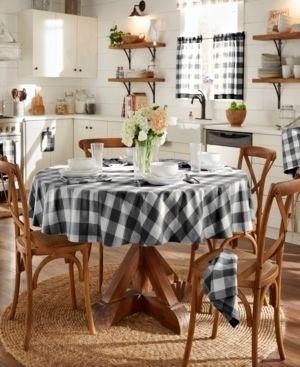 Elrene Farmhouse living Buffalo Check 70  Round Tablecloth 2 pkg