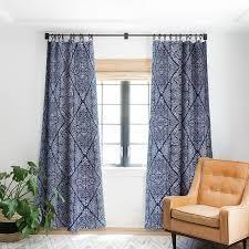 Marta Barragan Camarasa Indigo of Geometric Shapes of Watercolor Blackout Curtain Panels Retail 78 48