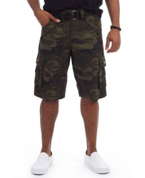 X Ray Men s Belted Double Pocket Bermuda Cargo Shorts w36