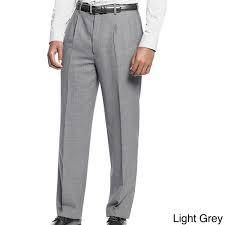 Affinity Apparel Men s Pleated Pants 42 r grey