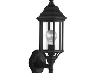 Sea Gull lighting 8538701 Black Sevier 1 light 6 1 2  Wide Outdoor Wall Sconce