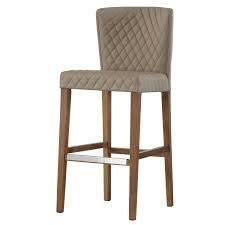 Albie diamond stiching pu leather bar stool