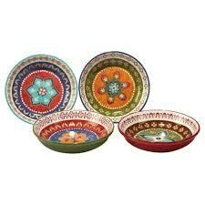 certified international plates veronique charlton set of 4