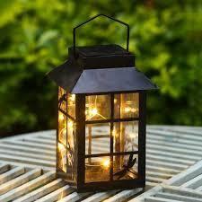 Hudson Solar light lantern by Havenside Home starry night