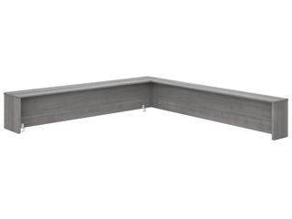 Bush Business Furniture Studio C 72W Reception Desk Shelf in Platinum Gray