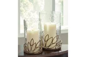 signature design ashley pascal candle holder set of 2