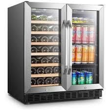 lanbo 30 inch Wine Beverage Refrigerator  Holds 33 Bottles 70 Cans  Retail 969 98 black