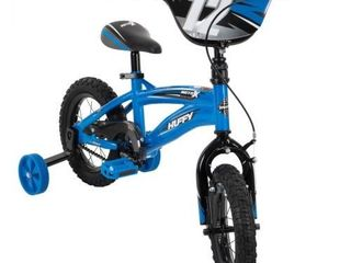 Huffy Kid Bike Moto X Quick Connect Gloss Blue 12
