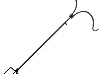 Erva Double Arm Adjustable Shepherd s Hook   Easy to Install  Extremely Sturdy Pole for Hanging Feeders and Plants   Made in The USA  MISSING 1 HOOK