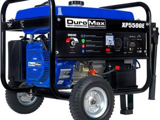 DuroMax XP5500E 5500 Watt 7 5 Hp 36 6 Amp Portable Electric Start Gas Powered Generator