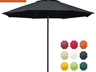 EliteShade Sunbrella 11Ft Market Umbrella Patio Outdoor Table Umbrella with Ventilation and 5 Years Non Fading Top Heather Beige