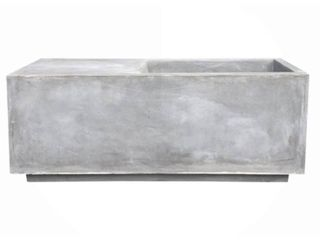 14 6  Kante lightweight Modern Outdoor Concrete Square Planter Natural Gray   Rosemead Home   Garden  Inc