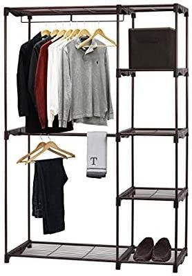 Simple Houseware Freestanding Portable Cloths Storage Utility Closet Organize