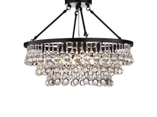 Arosa 9 light Black Semi Flush Mount Retail 286 49