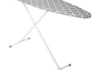 HOMZ Steel Ironing Board Contour Grey   White Cover  Grey lattice