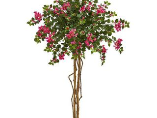 Nearly Natural 5 5  Bougainvillea Artificial Tree