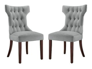 Dorel Asia Clairborne Tufted Dining Chair  Taupe