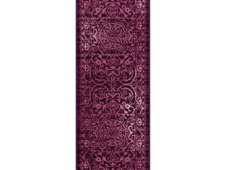 2 X6  Scroll Tufted Runner Purple   Maples