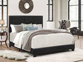 Crown Mark Erin Upholstered Panel Bed in Black  Full