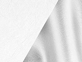 VViViD White Weatherproof Faux leather Finish Marine Vinyl Fabric  5ft x 54