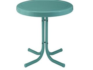 Griffith Blue Metal Outdoor Side Table